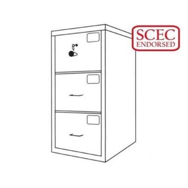 CMI Class C Filing Cabinet 3 Drawer