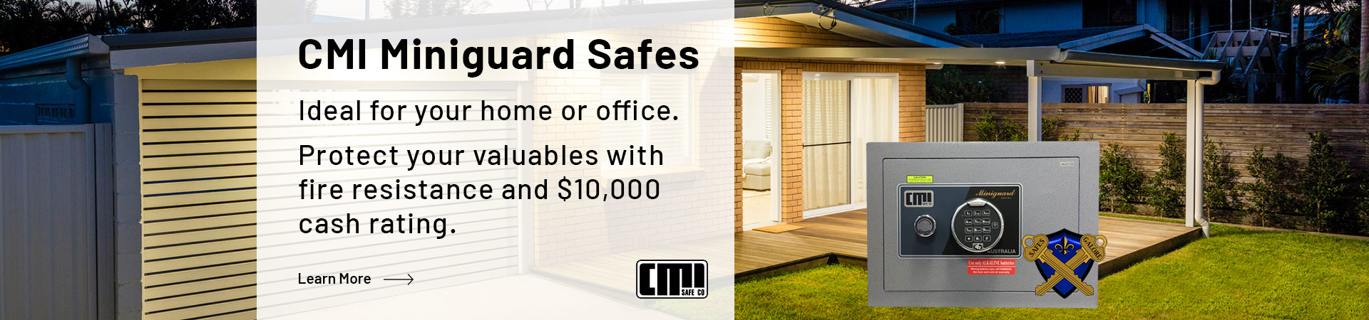 Learn more about the CMI Miniguard Safe range. Protect your valuables with fire resistance and $10,000 cash rating.